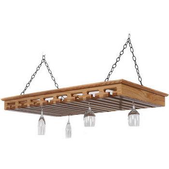 40+ Glass Hanging Stemware Rack