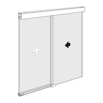 "Structure Glass Solutions Covert Series Soft Close Sliding Door System, Single Door Hardware Kit, 144"" Header Track, Brushed Nickel"