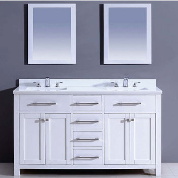 Dawn Sinks 60  39   39  W Milan Bathroom Vanity Set  Counter Top  Sink Cabinet  amp  2 Mirrors In Pure White. Dawn Sinks Bathroom Vanities and Sink Cabinets   KitchenSource com