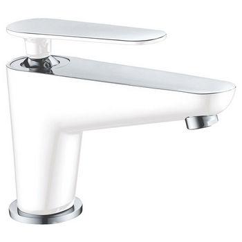 Bathroom Faucet, Chrome & White