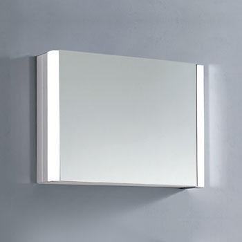 "Dawn Sinks LED Backlit Horizontal Single Door Medicine Cabinet with Matte Aluminum Mirror, 27-9/16"" W x 5-5/16"" D x 19-11/16"" H"