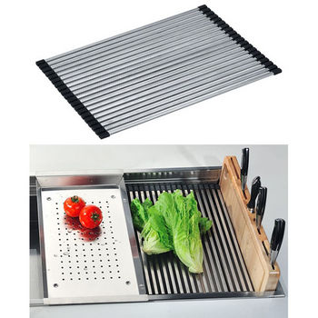 Dawn® Drain Mat for SKS-SRU311710 in Polished Satin Stainless Steel, 12-3/16'' W x 17-5/16'' D x 5/16'' H