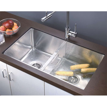 Dawn Sinks 16 Gauge 32''W Stainless Steel Undermount Single to Double Combination Bowl Sink