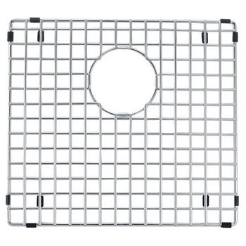 Dawn® Bottom Grid for SKS-DSQ301515 (Large Bowl) in Polished Satin Stainless Steel, 16.5'' W x 15'' D x 1'' H