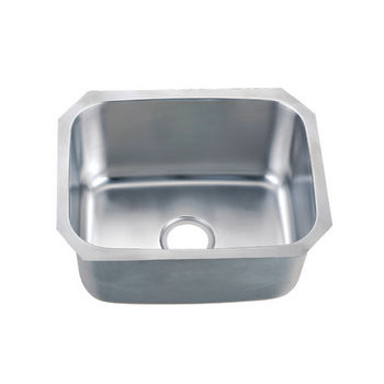 "Dawn Sinks Single Series 18-Gauge Stainless Steel Undermount Sink, 20-7/8"" W x 16-7/8"" D x 9-5/8"" H"