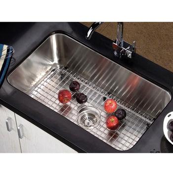 "Dawn Sinks Single Series Stainless Steel Undermount Sink, 30-3/8"" W x 18-1/2"" D x 10-5/8"" H"