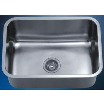 "Dawn Sinks Single Series Stainless Steel Undermount Sink, 25"" W x 18-1/8"" D x 10"" H"