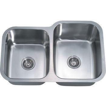 """Dawn Sinks Combination Series 31-7/8"""" W Stainless Steel Undermount Sink"""
