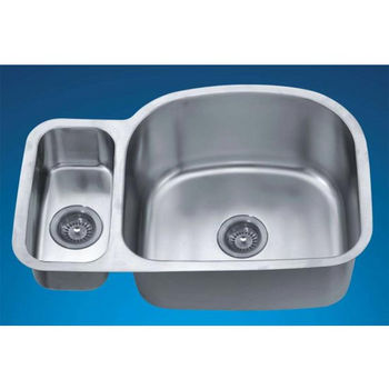 "Dawn Sinks Combination Series 30"" W x 20"" D x 10"" H Stainless Steel Undermount Sink"