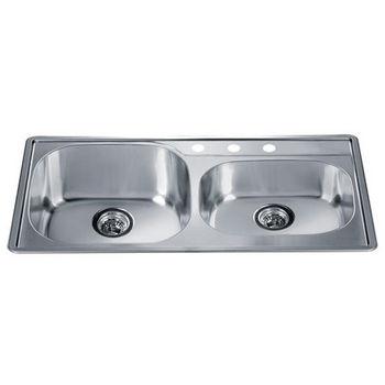 Dawn Sinks Combination Drop In Series Stainless Steel Top Mount Sink   34 1 4 W x 19 1 2 D x 7 1 2 H. Drop In Kitchen Sinks   Buy Drop In Sinks in Stainless Steel Fire