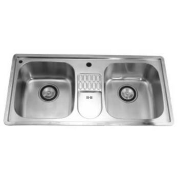 Dawn Sinks Combination Drop In Series Stainless Steel Top Mount Sink 38 3 4 W X 19 1 8 D X 8 3 4 H