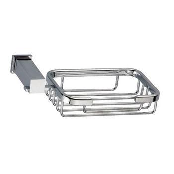 Dawn Sinks Square Series Soap Basket, Chrome