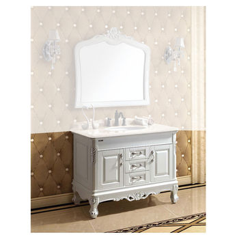 Dawn Sinks 42 1 2 W Traditional Solidwood And Plywood Bathroom Sink Cabinet With Three Drawers Two Doors