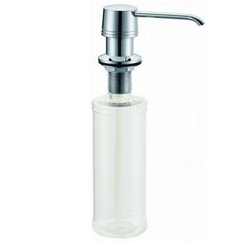 Dawn® Soap Dispenser in Chrome, 2-7/32'' Diameter x 3-17/32'' D, 1-11/16'' (Counter to Spout), 7-3/32'' (Plastic Refill Bottle)