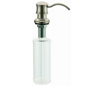 Dawn® Soap Dispenser in Brushed Nickel, 2-7/32'' Diameter x 3-11/16'' D, 1-15/16'' (Counter to Spout), 7-3/32'' (Plastic Refill Bottle)