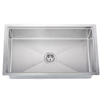 Dawn Sinks Undermount 18 Gauge Small Radius Single Bowl Kitchen Sink
