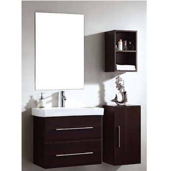 Dawn Sinks 28-1/4''W European Bathroom Vanity Set: Sink Top, Sink Cabinet, Side Cabinet Without Door, Side Cabinet &.