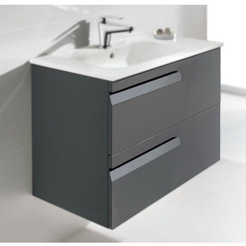 Vitale Series 24 1 6 Wide Wall Mount Single Vanity Cabinet Set Vanity Cabinet Ceramic Sink Top Frameless Mirror White Or Anthracite Finish By Dawn Sinks Kitchensource Com