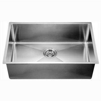"""Dawn Sinks® Kitchen Stainless Steel Undermount Extra Small Corner Radius Rectangle Single Bowl in Polished Satin Finish, 29-1/2"""" W x 18"""" D x 10"""" H"""