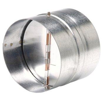 "S&P 14"" - 16""  Diameter Galvanized Steel Backdraft Damper, Spring Loaded"