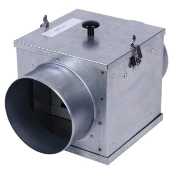 """S&P Filter Box For 4"""" - 6"""" Diameter Duct Connector with MERV8 Filter"""