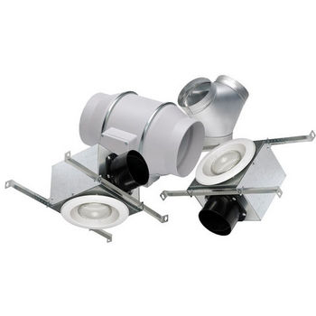 S&P TD Deluxe Lighted Exhaust Kit (Dual Vent-LED)