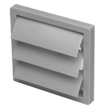 "S&P 4"" - 20"" UV Stabilized White Plastic Louvered Shutter Wall Cap, Gray"