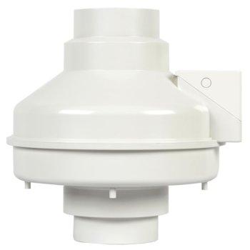 "S&P 4"" Inline Radon Mitigation Fan, Fully Sealed, 169CFM, 120V/60Hz, 92W, 3080 RPM"