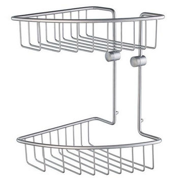 Smedbo Home Line Brushed Chrome Double Tier Soap Basket