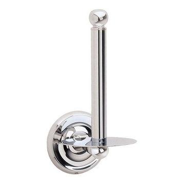 "Smedbo Villa Polished Chrome Spare Toilet Roll Holder 7"" H"