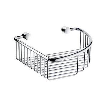 "Smedbo Villa Polished Chrome Corner Soap Basket 7-7/8"" W x 7-7/8"" D x 2½"" H"