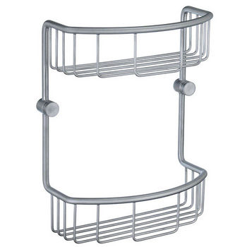 Smedbo Studio Brushed Chrome Double Soap Basket