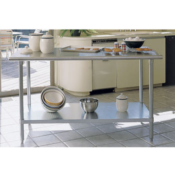 Advance Tabco Stainless Steel Top Bull Nose Chef Cart