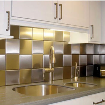 Square Edge Square Metal Wall and Floor Tiles