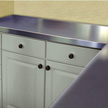 Countertop Drip Edge : ... Stainless Steel Countertops - Flat Top - No Drip Smart Finish Edge
