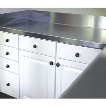 Advance Tabco Stainless Steel Countertop with 5'' Backsplash