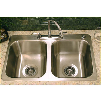 Advance Tabco 16 W X 14 D X 7 1 2 H Double Bowl Sink