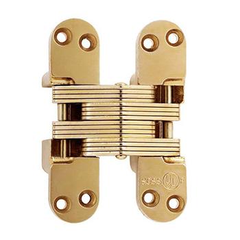 SOS-418US Invisible Hinge, Satin Brass
