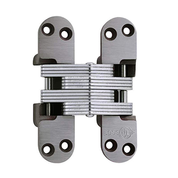 SOS-418US Invisible Hinge, Clear Coat Unplated