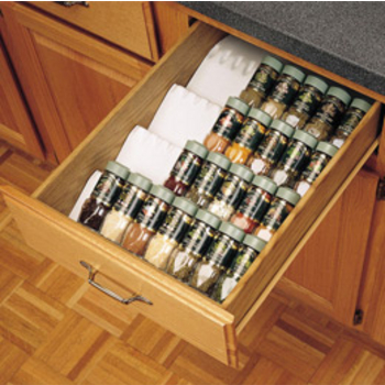 Gentil Wall Mounted Spice Racks, Drawer Inserts Spice Racks