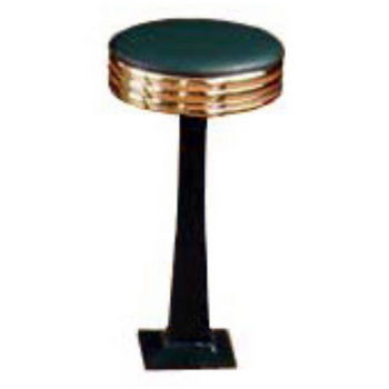 Sass Stools #2010-B - 19'' to 25'' Classic with Polished Brass Seat