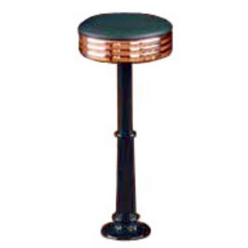 Sass Stools #3010-C - 16'' to 30'' Roman with Polished Copper Seat