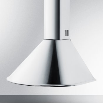 """Summit Appliance 24"""" ADA Compliant European Wall-Mounted Range Hood in Stainless Steel with Remote Wall Switch, 23-1/2"""" W x 21-5/8"""" D x 30"""" H"""