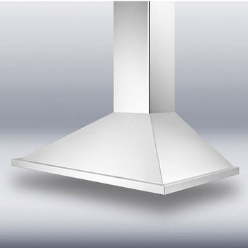 Storch Wall Mounted European Range Hood with Straight Front, Stainless Steel