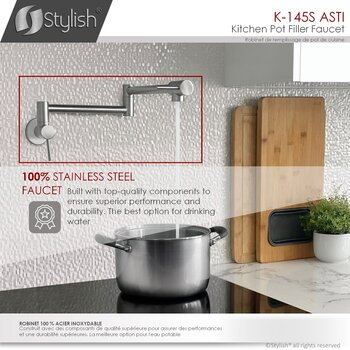 All Faucets - 100% Stainless Steel