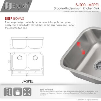 33'' Sink Dimensions