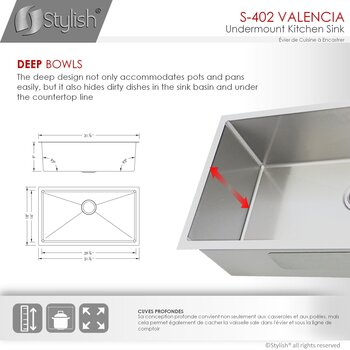 Single Bowl - Dimensions
