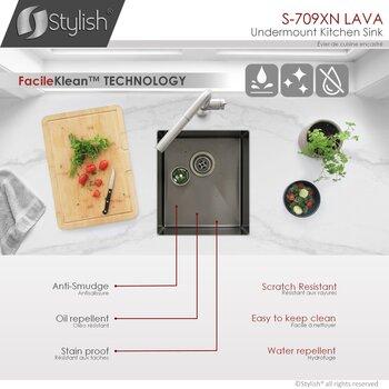 "16'' and 30"" Kitchen Sink - FacileKlean Technology"