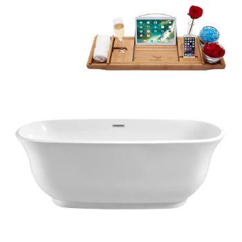 67'' - White Tub Side View