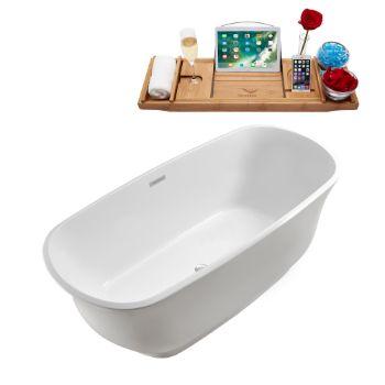 67'' - White Tub Angled View